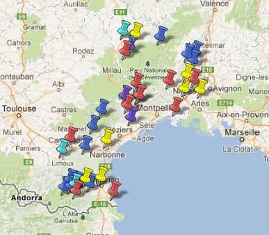 Carte Languedoc Roussillon.Carte Des Villes Et Villages Classes Du Languedoc Roussillon