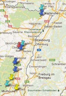 Carte Touristique Alsace Du Nord.Carte Des Villes Ou Villages Classes En Alsace