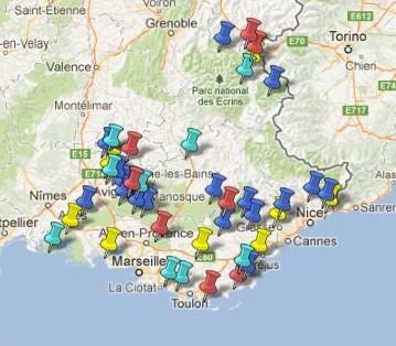 Carte Region Paca.Carte Des Villes Et Villages Classes Region Paca