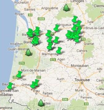Carte Des Jardins Remarquables En Aquitaine