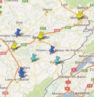 Villes et Villages Classés en Franche Comté