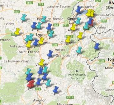 Villes et Villages Classés en Rhône Alpes