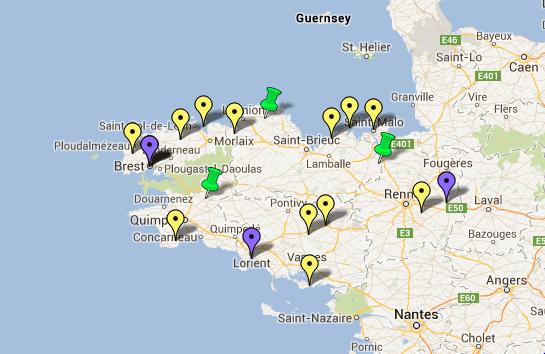 Carte Des Jardins Remarquables En Bretagne