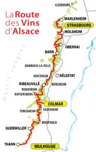 carte route des vins alsace